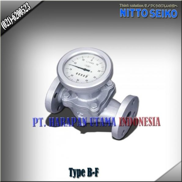FLOW METER NITTO SEIKO TYPE B-FF COLD AND HOT WATER SIZE 3/4 INCH (20MM)