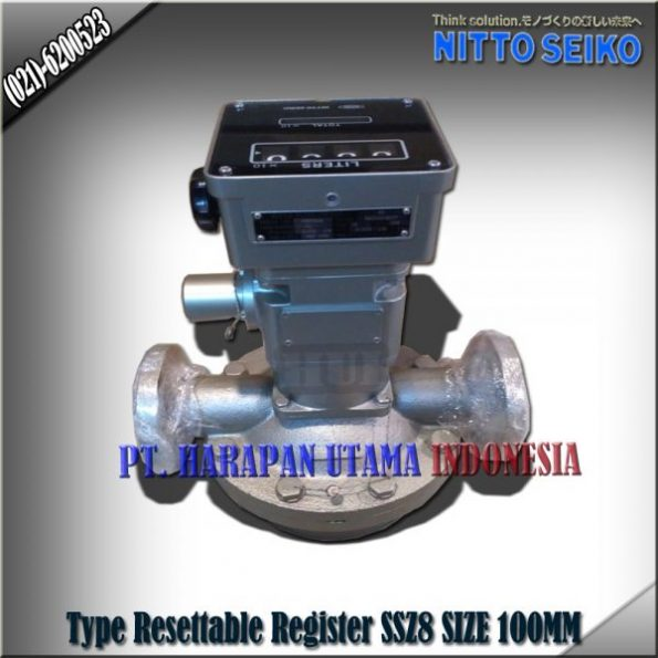 FLOW METER NITTO SEIKO TYPE SSZ8 RESETTABLE REGISTER SIZE 4 INCH (100MM)