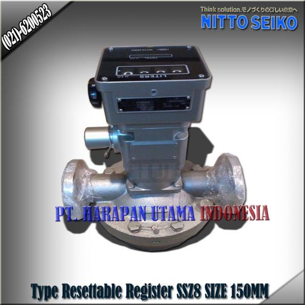 FLOW METER NITTO SEIKO TYPE SSZ8 RESETTABLE REGISTER SIZE 6 INCH (150MM)
