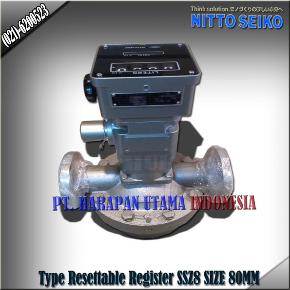FLOW METER NITTO SEIKO TYPE SSZ8 RESETTABLE REGISTER SIZE 3 INCH (80MM)