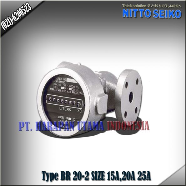 FLOW METER NITTO SEIKO TYPE BR 25‐2 SIZE 3/4 INCH (20MM)