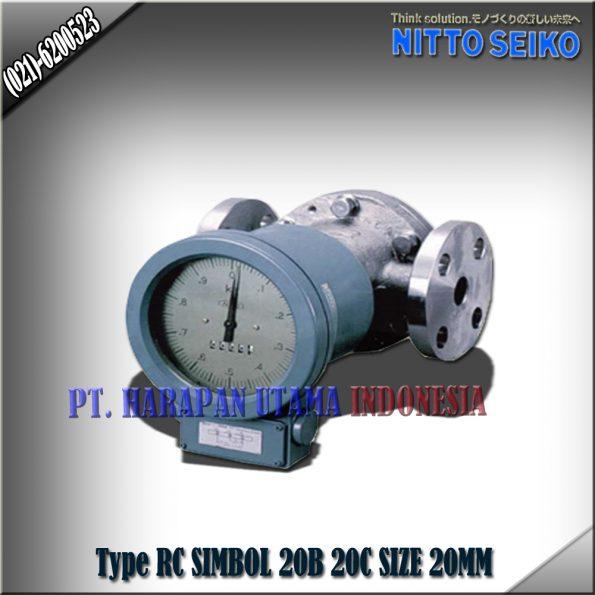 FLOW METER NITTO SEIKO TYPE RC 20B SIZE 3/4 INCH (20MM)