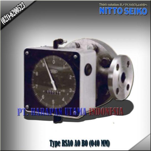 FLOW METER NITTO SEIKO TYPE RSA0, B0 SIZE 1 1/2 INCH (40MM)
