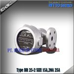 FLOW METER NITTO SEIKO TYPE BR 25‐2 SIZE 1 INCH (25MM)