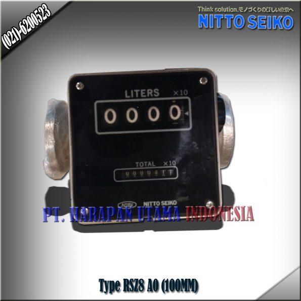 FLOW METER NITTO SEIKO TYPE RSZ8, A0 SIZE 4 INCH (100MM)