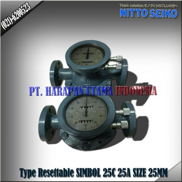 FLOW METER NITTO SEIKO TYPE RA 25C RESETTABLE SIZE 1 INCH (25MM)