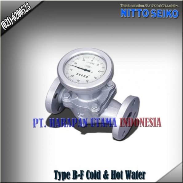 FLOW METER NITTO SEIKO TYPE B-FF COLD AND HOT WATER SIZE 1 INCH (25MM)