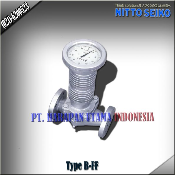 FLOW METER NITTO SEIKO TYPE B-FF SIZE 3/4 INCH (20MM)