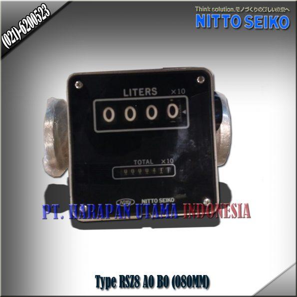 FLOW METER NITTO SEIKO TYPE RSZ8, A0 SIZE 3 INCH (80MM)
