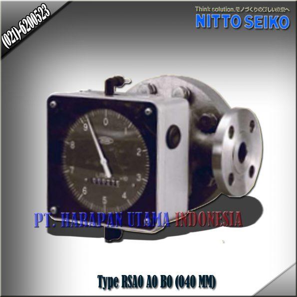 FLOW METER NITTO SEIKO TYPE RSA0, A0 SIZE 1 1/2 INCH (40MM)