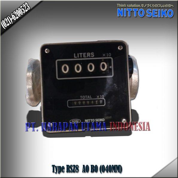 FLOW METER NITTO SEIKO TYPE RSZ8, B0 SIZE 1 1/2 INCH (40MM)